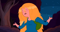 S5e11 Fionna singing with no hat