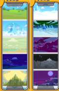 Game creator backgrounds
