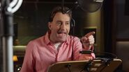 Tom Kenny in the voice acting booth