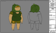 Modelsheet dinosaurhyooman mother