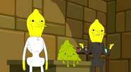 S5 e9 the Lemongrabs standing in front of Pluptop