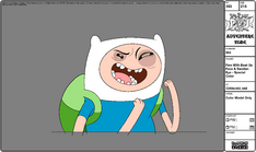 Modelsheet Finn with Beat Up Face & Swollen Eye - Special Color