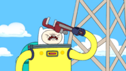 S1e16 Finn hitting himself with wrench