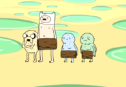 S1e11 Naked Finn and Jake with wizards