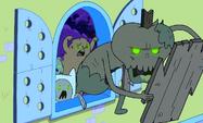 S1e1 ZombieFinn at window