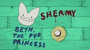 Beth and Shermy name slide