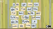 S5 e20 Finn and Jake's message to BMO