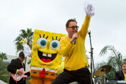Tom Kenny with the iconic SpongeBob