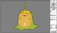 Modelsheet slimeprincess - withegginbody