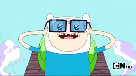 S2e15 finn wearing glasses of nerdicon