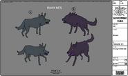 Modelsheet Wolves