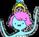 Engagement ring princess' crown