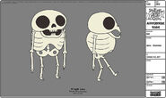 Modelsheet jake - skeleton