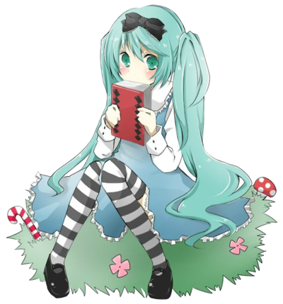 Miku in wonderland render by feary bad day-d5s8tdq