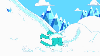 S1e3 Iceclops with head in snow