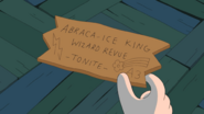 S5E40 playdate - Abraca-Ice King Wizard Revue ticket