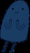 Blue thin gumdrop