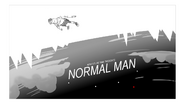Normal Man Title Card Design