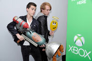 Zack Shada and Jeremy Shada at the XBOX VIP lounge