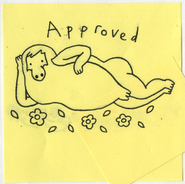 Adventure Time design approval stamp by Pendleton Ward (rough copy)
