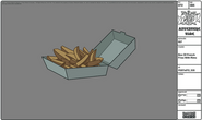 Modelsheet boxof frenchfries withrims