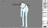Modelsheet snowgolem treebranch througheye