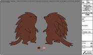 Modelsheet porcupine