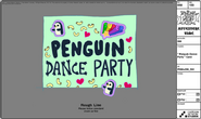 Modelsheet penguindanceparty card