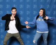 Jeremy shada with fan at Emerald City Comic-con