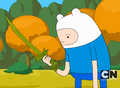 Finn not happy with Grass Sword.png