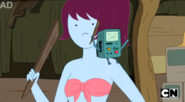 S5 e20 BMO on one of the bikini babe's shoulder