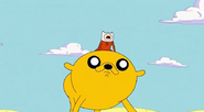 S4 e24 Finn riding Jake