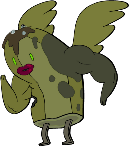File:Zombie Banana Guard with wings, lips, and muscles.png