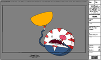 Modelsheet Peppermint Butler with Red Eye - Pose A