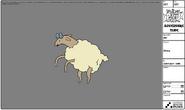 Modelsheet sheep