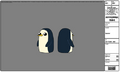 Gunter the penguin fowards and backwards.png