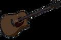 Marceline's Brown Acoustic Bass Guitar.png