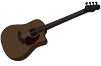 Marceline's Brown Acoustic Bass Guitar
