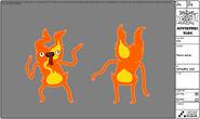 Modelsheet flamejester