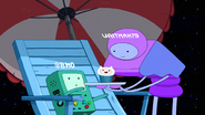 S8E9 Waitman gives Finn cake to BMO