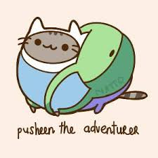 Pusheen the adventurer