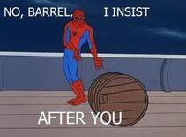 Barrel spiderman