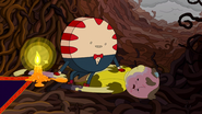 S5e21 Peppermint Butler sitting on Braco