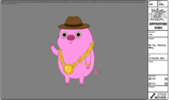 Modelsheet mr.pig wearingbling