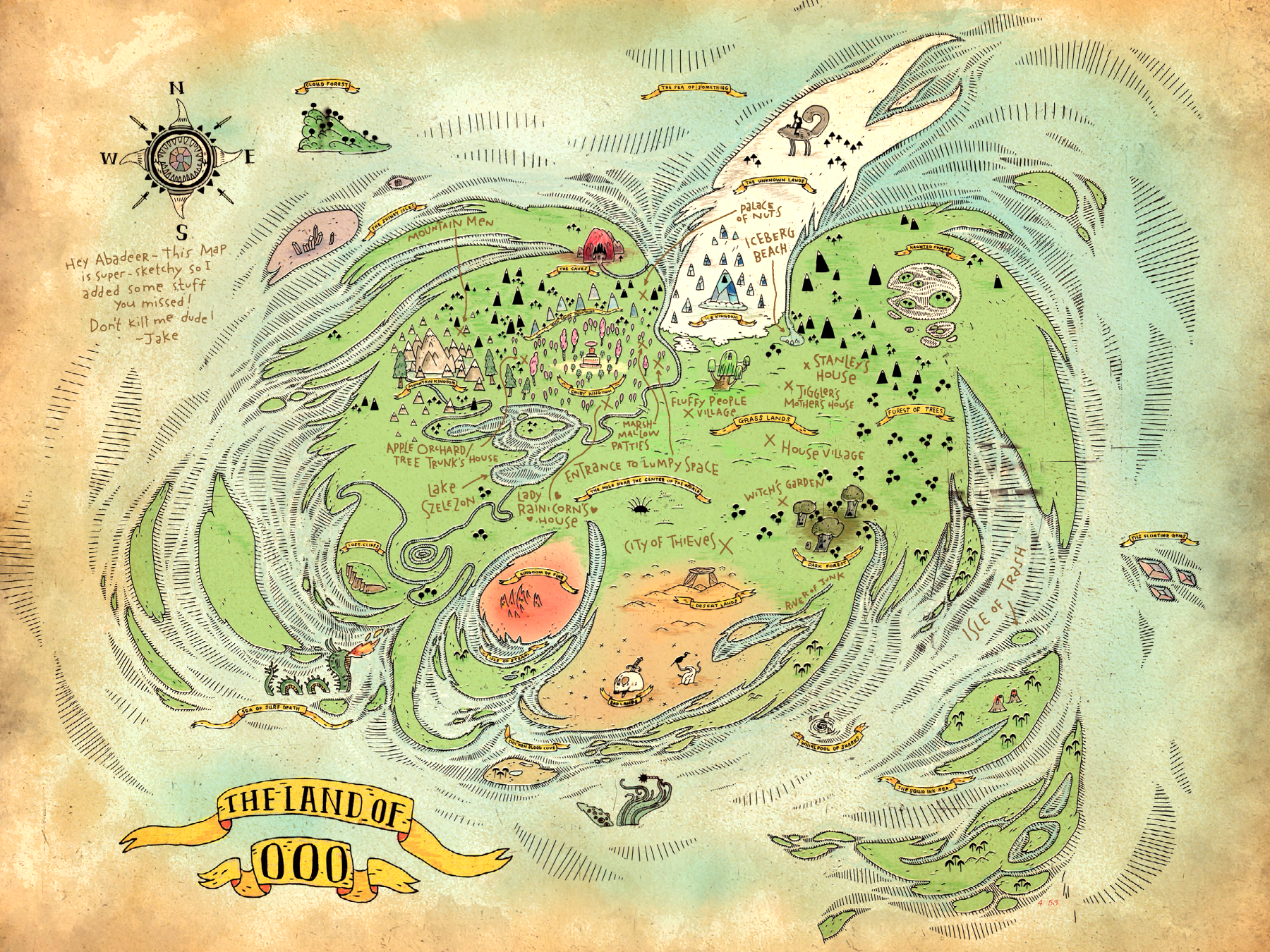 Image ooo map annotatedg adventure time wiki fandom ooo map annotatedg gumiabroncs Choice Image
