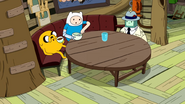 S10e2 Jake, Finn, and BMO at table