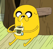 S2e8 jake drinking hot tea