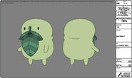 Modelsheet leafbeard