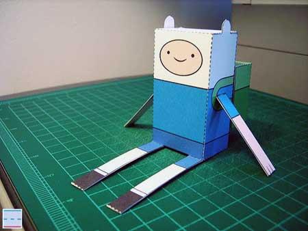 Adventure Time Paper Toy Finn 1