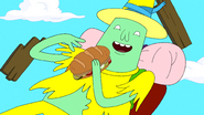 S5e33 Magic Man with sandwich